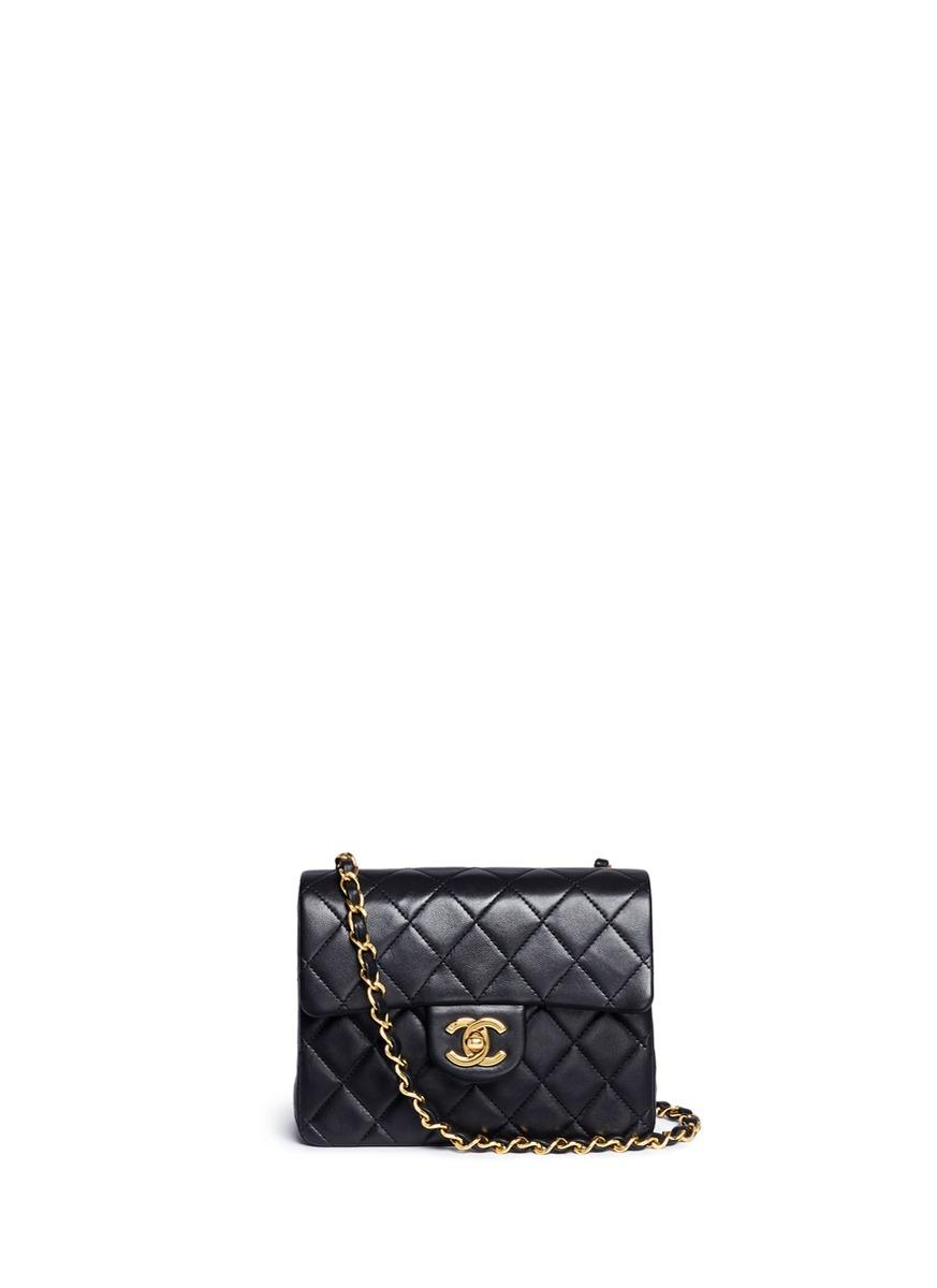 012711ac5338 Chanel Black Quilted Lambskin Leather Mini Flap Bag | Stanford ...