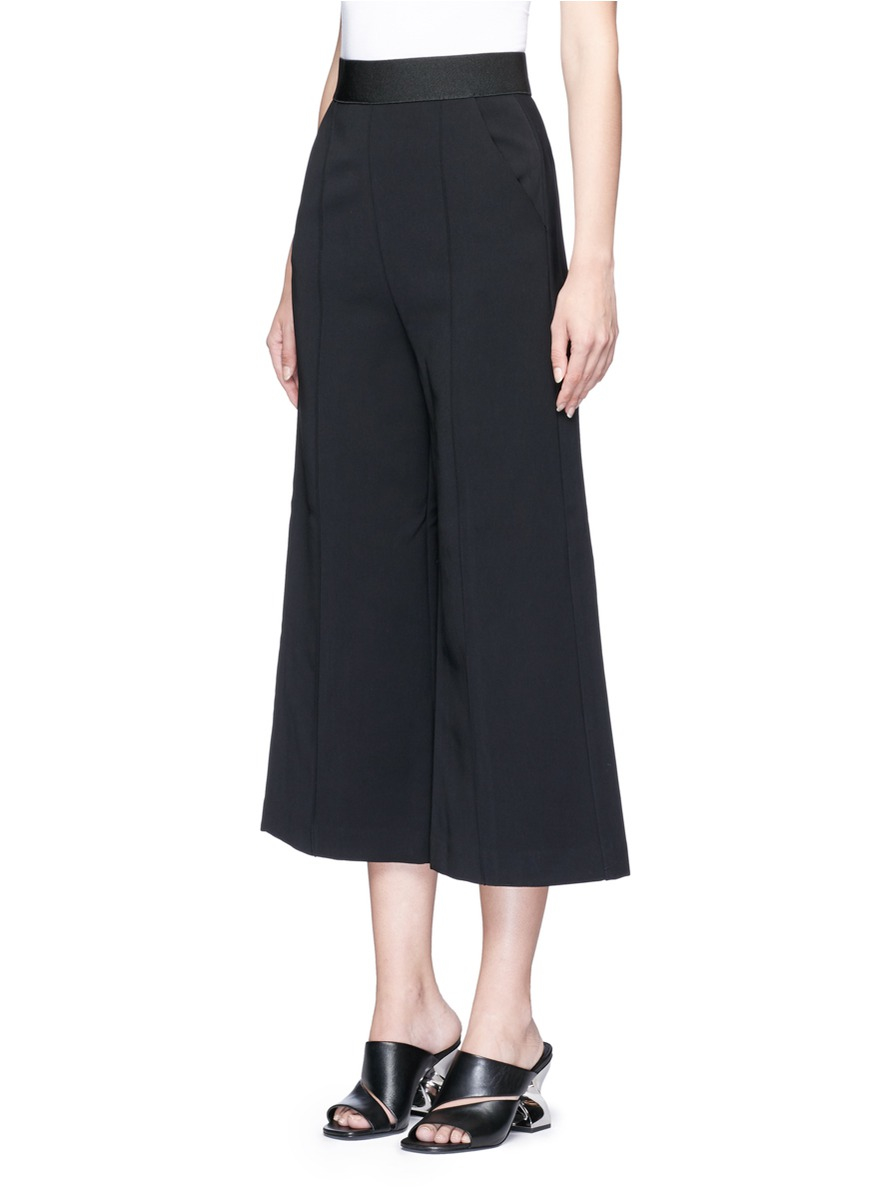 Self-portrait 'natasha' Pintuck Seam Culottes in Black