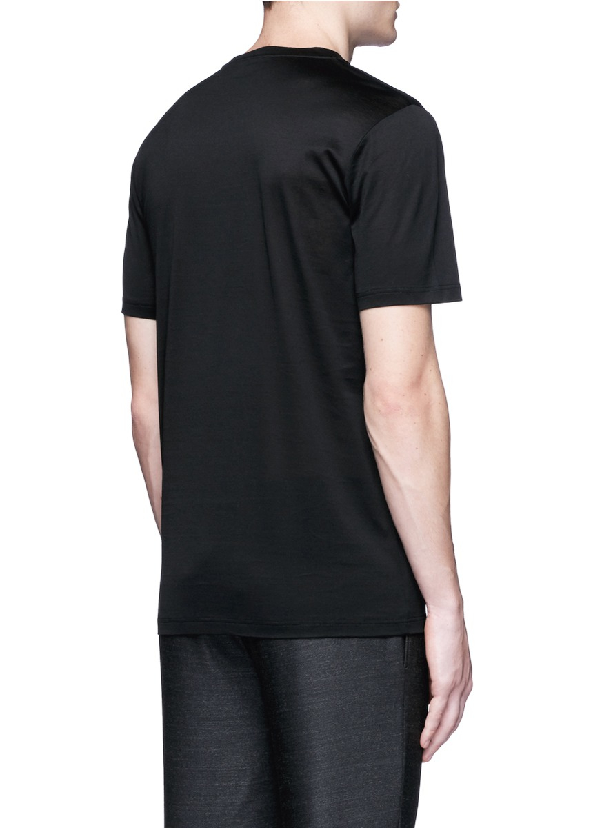 Lanvin footstep embroidery t shirt in black for men lyst