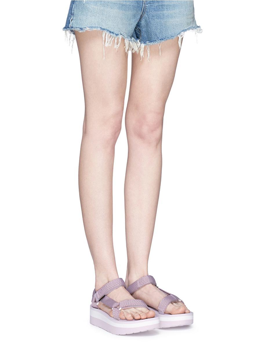 8adcd23c82e2 Lyst - Teva  flatform Universal  Sandals in Gray
