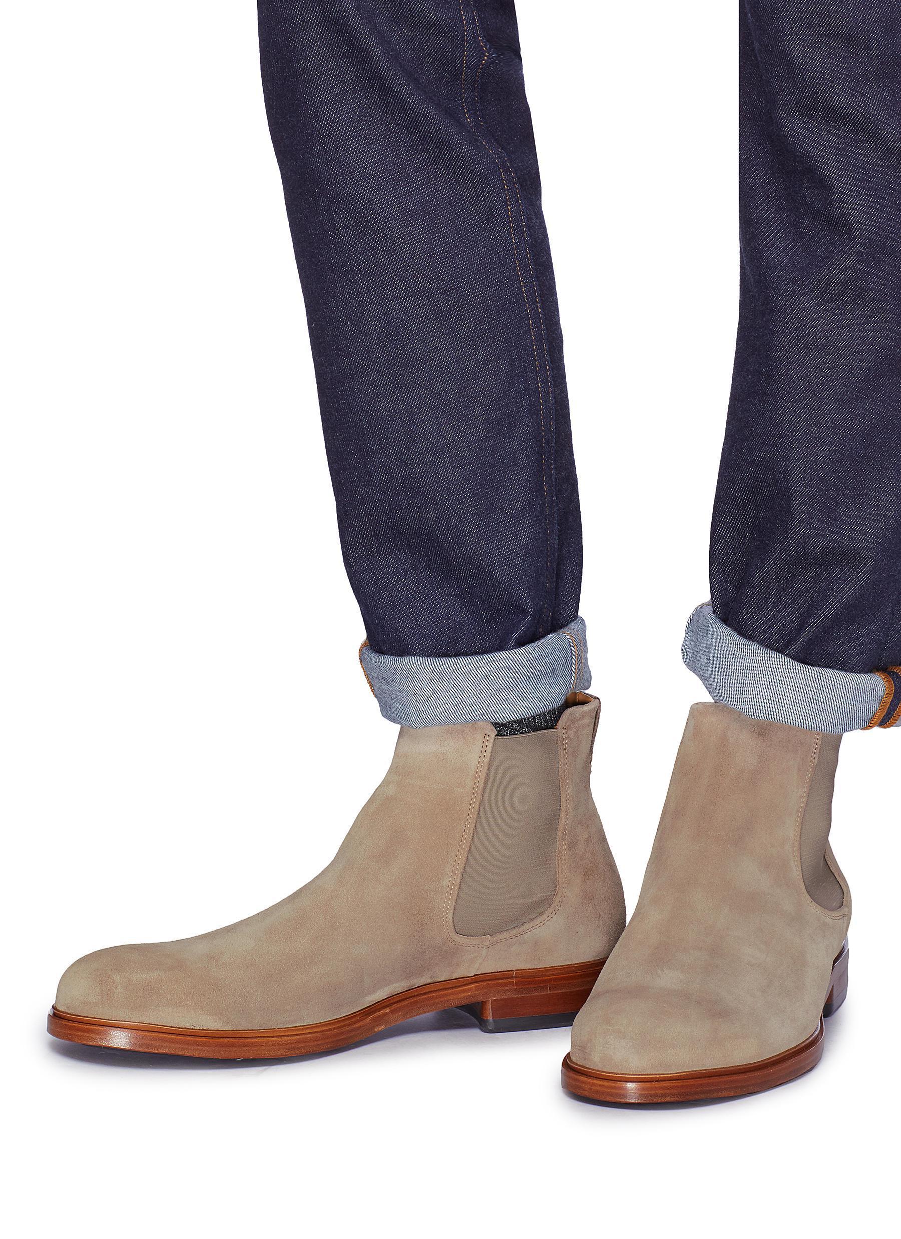 39bddd977 Vince 'burroughs' Suede Chelsea Boots for Men - Lyst