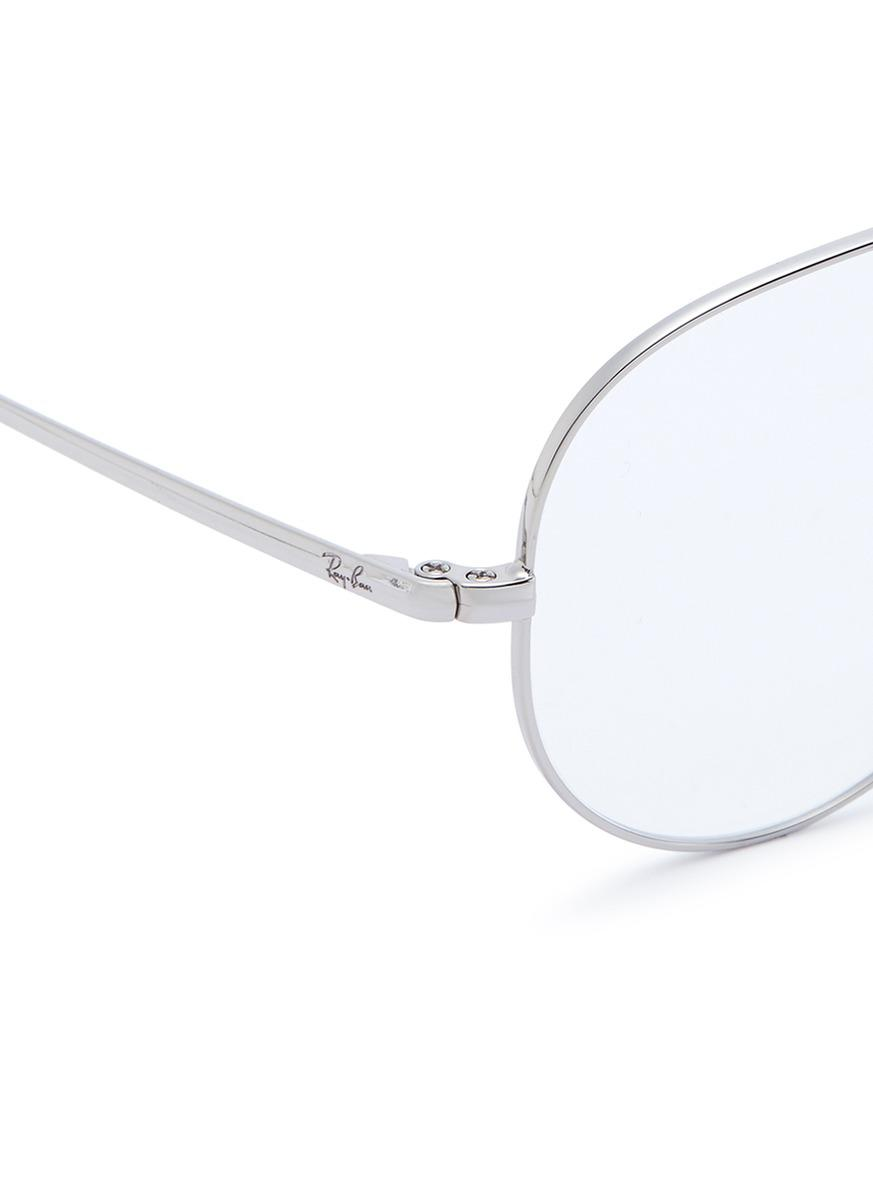 c635aac4ae Lyst - Ray-Ban  rx6489  Metal Aviator Optical Glasses in Metallic