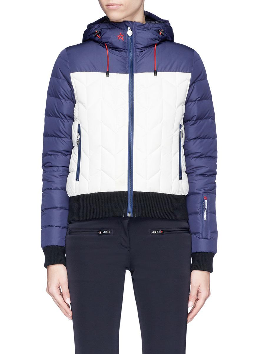 Colourblock Puffer Moment Lyst 'cordon' Down Blue Perfect In Jacket OPZiTXku