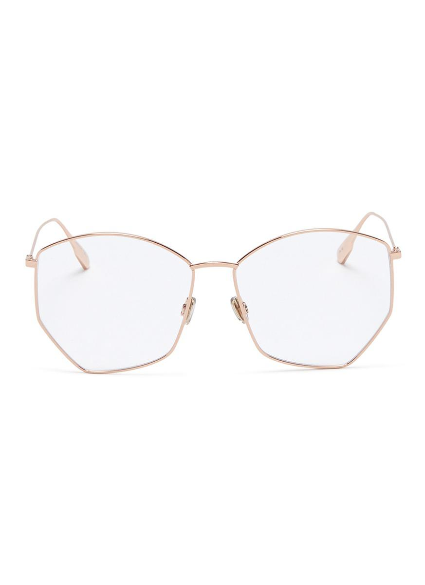 eee28dea4af59 Dior   Stellaire 4  Metal Geometric Optical Glasses - Lyst