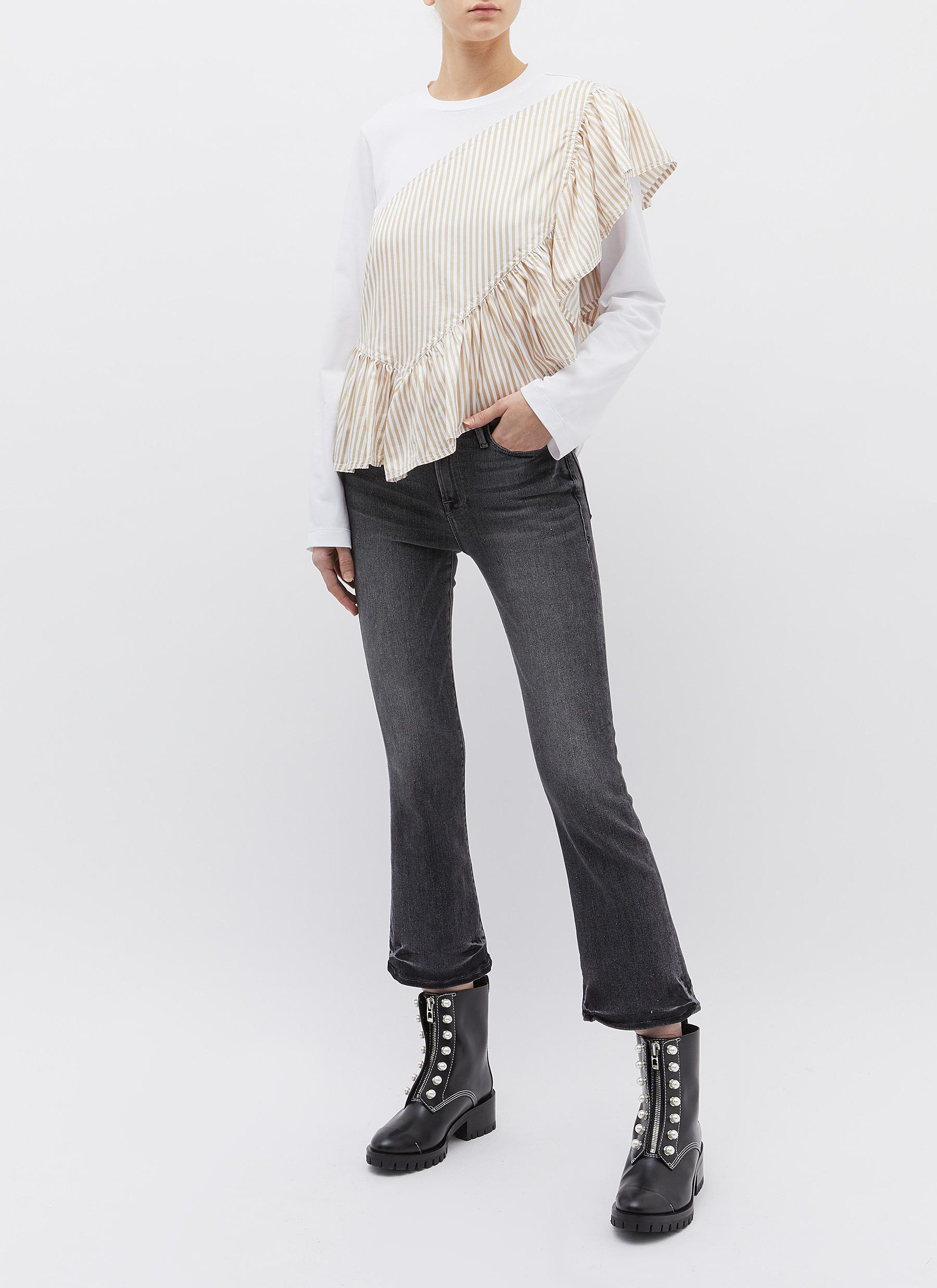 576eaa31727c Lyst - 3.1 Phillip Lim 'flamenco' Ruffle Stripe Panel Long Sleeve T ...