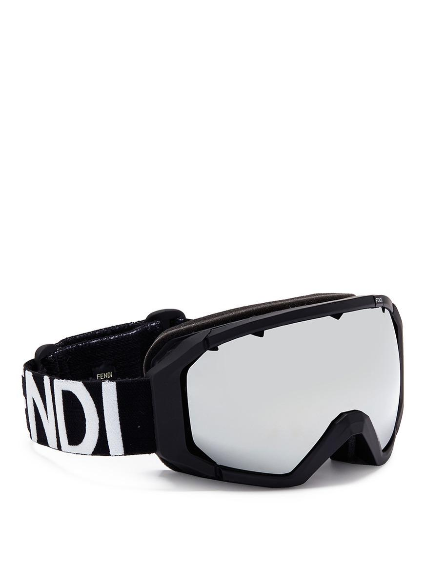 e1c339eb6b7 Fendi Ski Goggles in Black for Men - Lyst