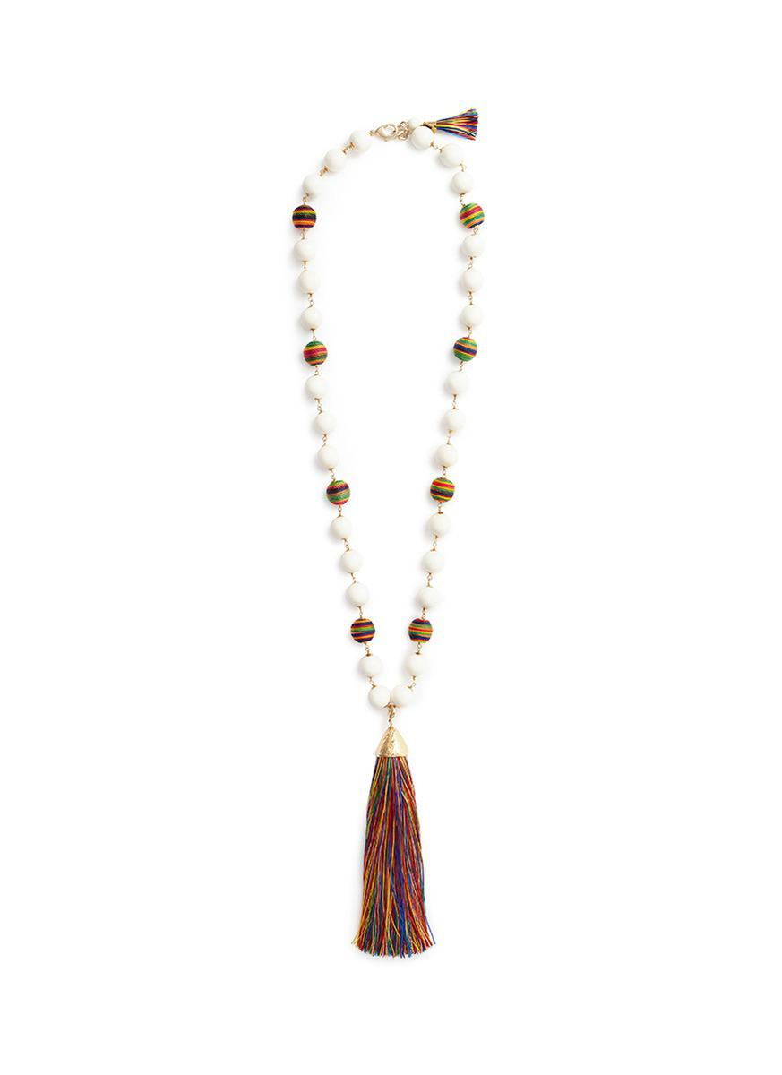 Rosantica Corda Necklace with Oversized Tassle Pendant