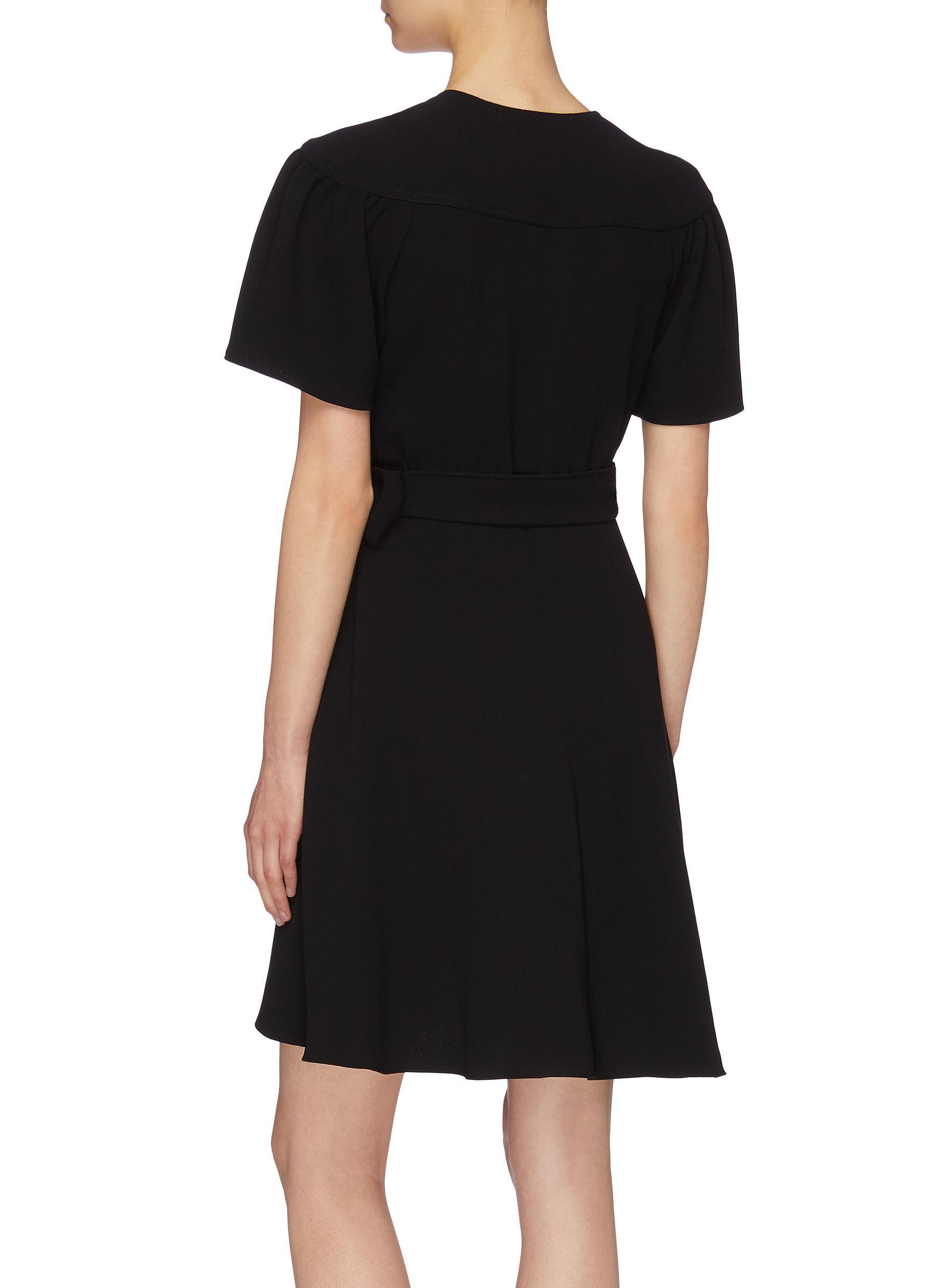 3eb1806b0b Diane von Furstenberg - Black  zella  Mini Wrap Dress - Lyst. View  fullscreen