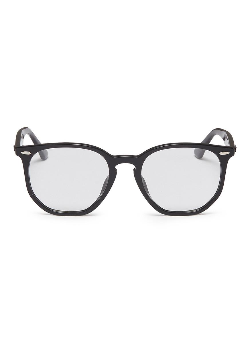 Ray-Ban \'rb7151f\' Acetate Hexagonal Optical Glasses in Black - Lyst