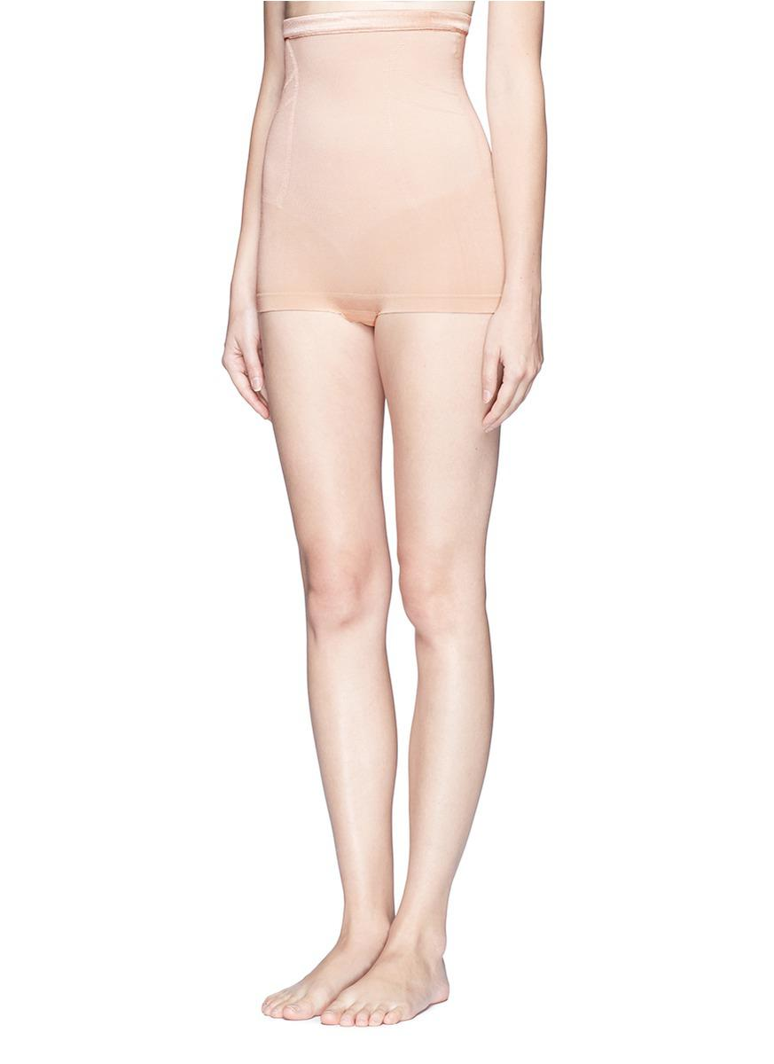 16b32e304e Lyst - Spanx Slimmer   Shine® High-waisted Body Tunic in Natural