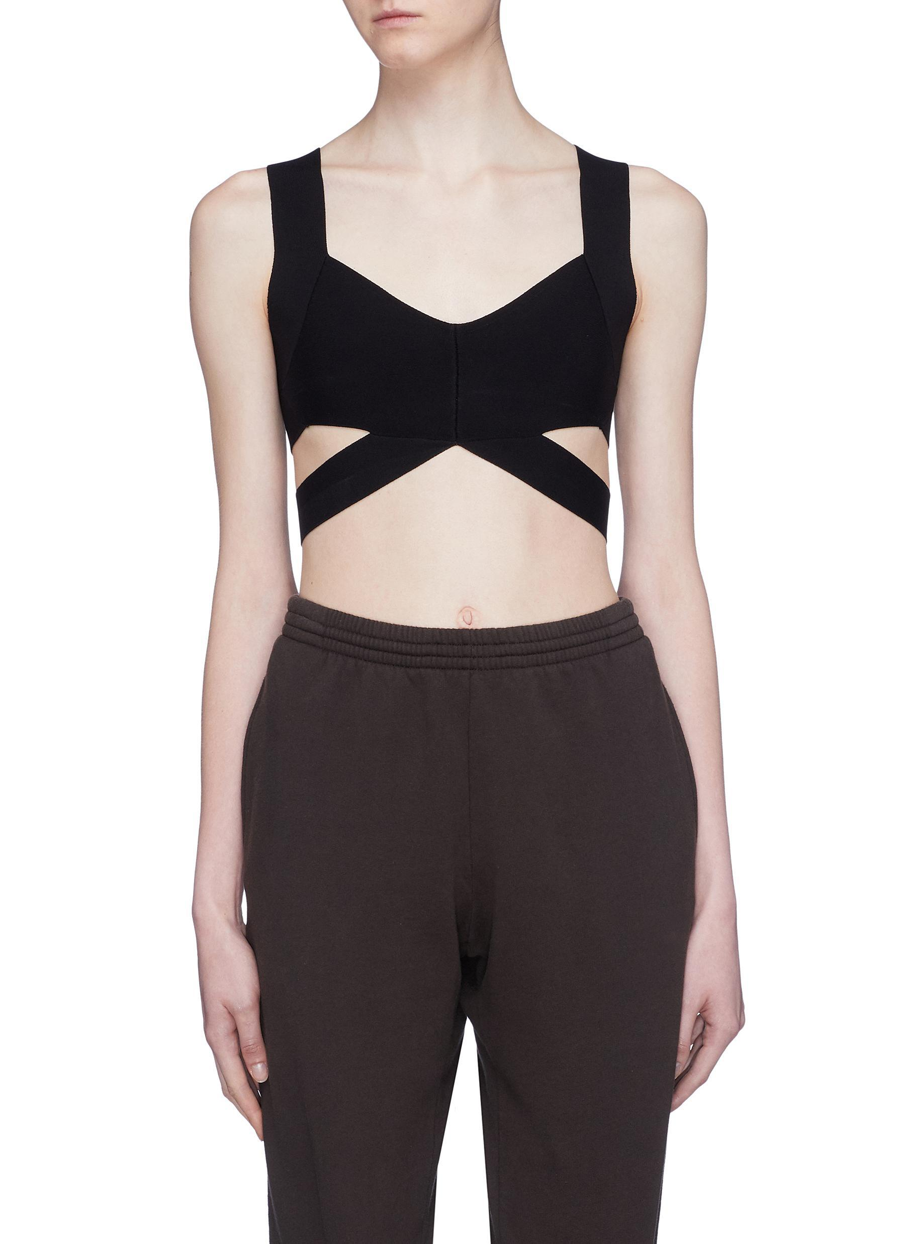 148d32544ed7c Lyst - T By Alexander Wang Cutout Strappy Bralette in Black