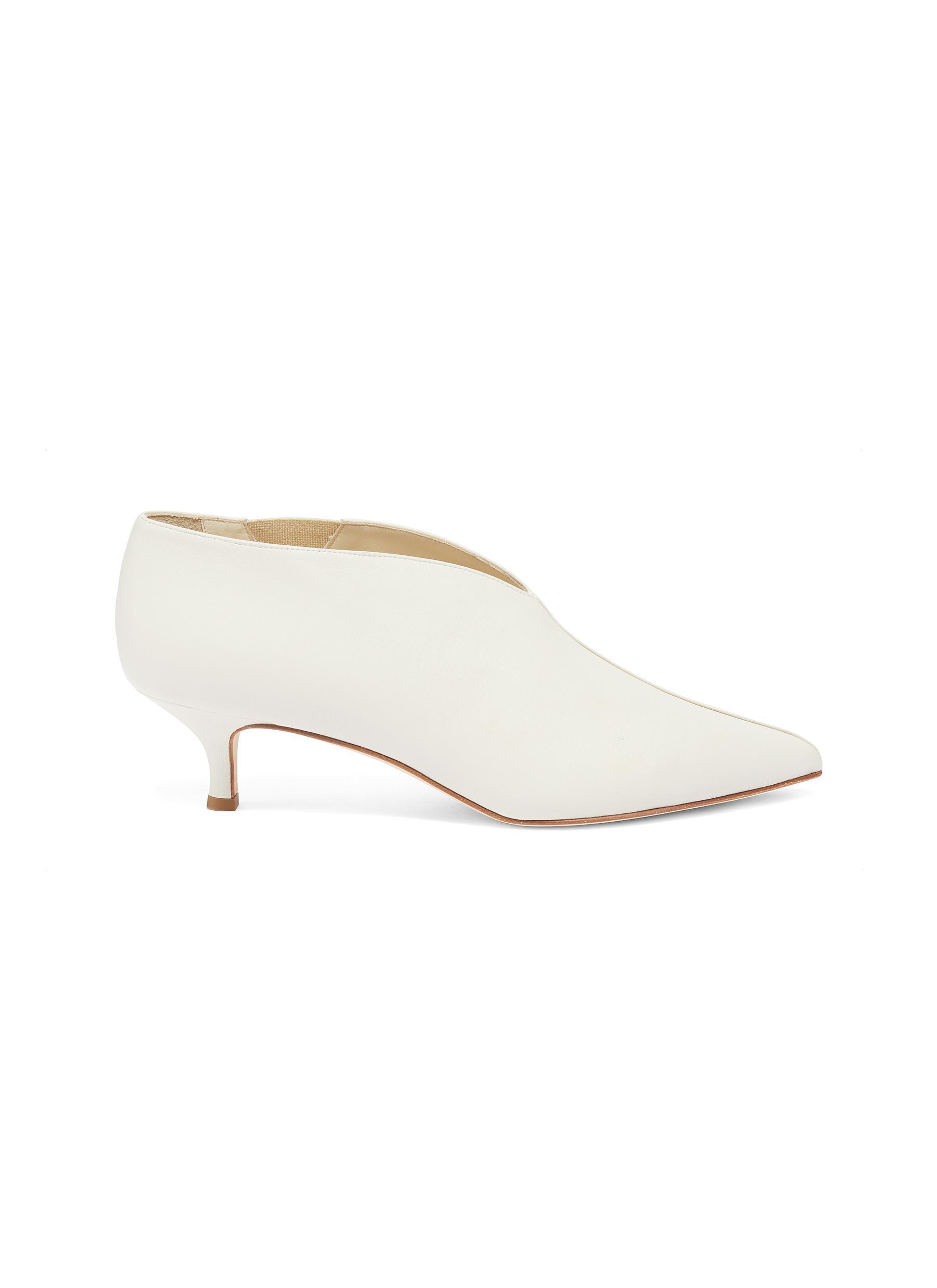 542f7aa046c9 Lyst - Tibi  joe  Leather Choked-up Pumps in White
