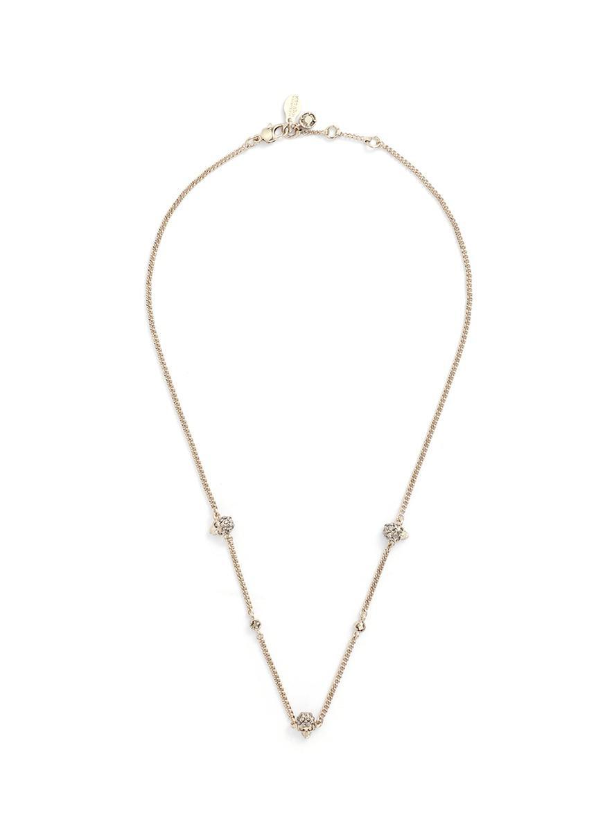 Ónix, Faux-perla Y Collar De Cristal-embellecido Alexander Mcqueen