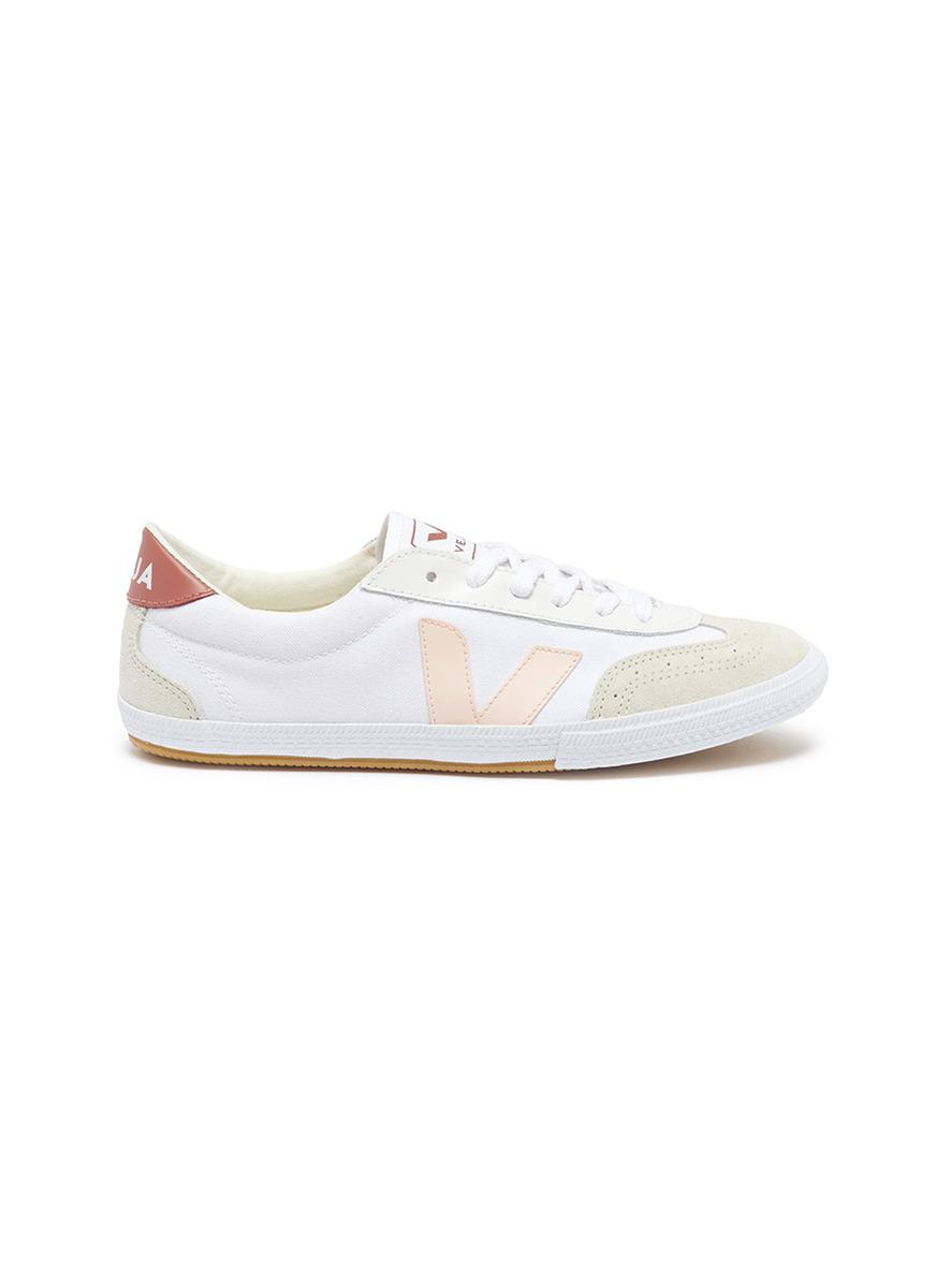 e4fe761fcd0 Lyst - Veja  volley  Organic Canvas Sneakers in White