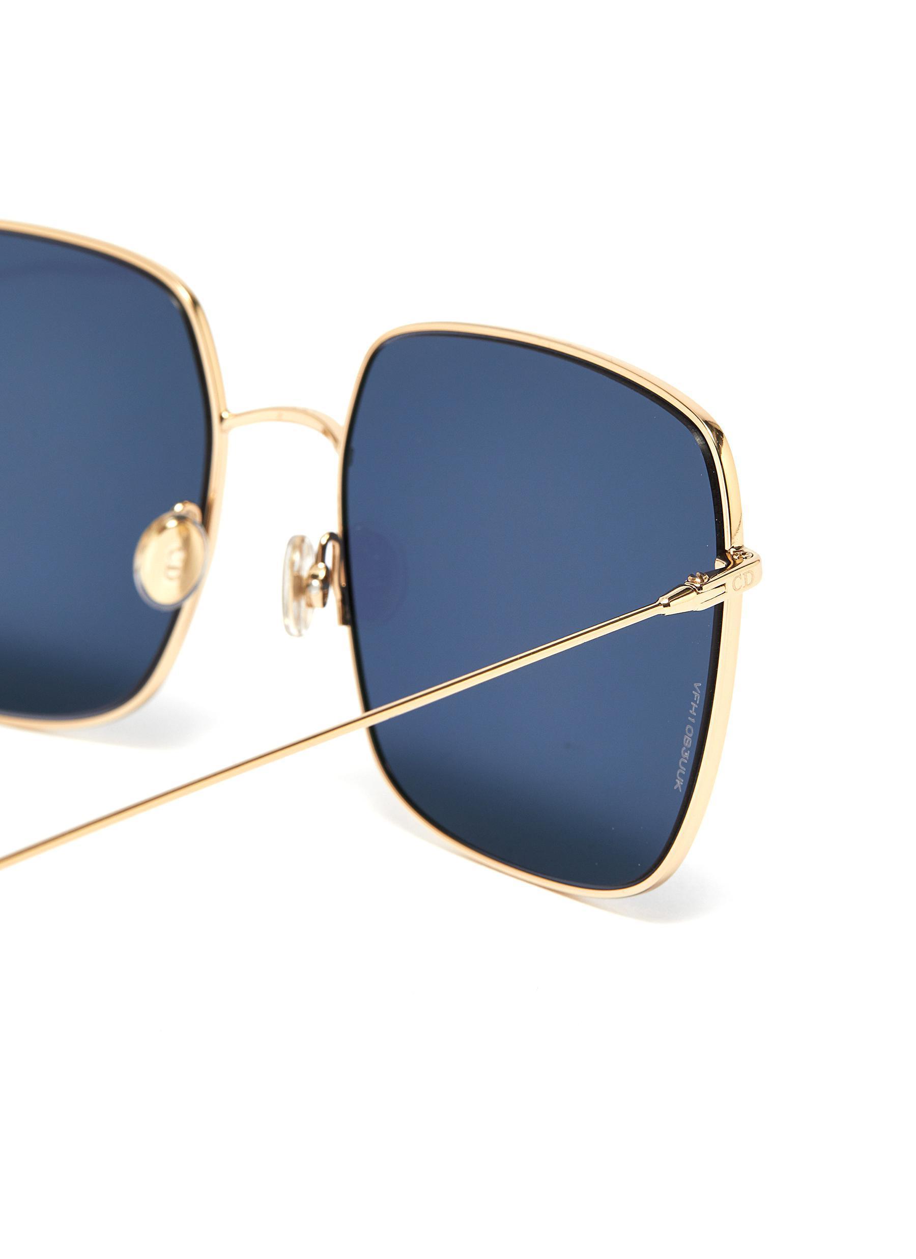 cd94de5cfb44 Dior - Metallic ' Stellaire 1' Metal Square Sunglasses - Lyst. View  fullscreen