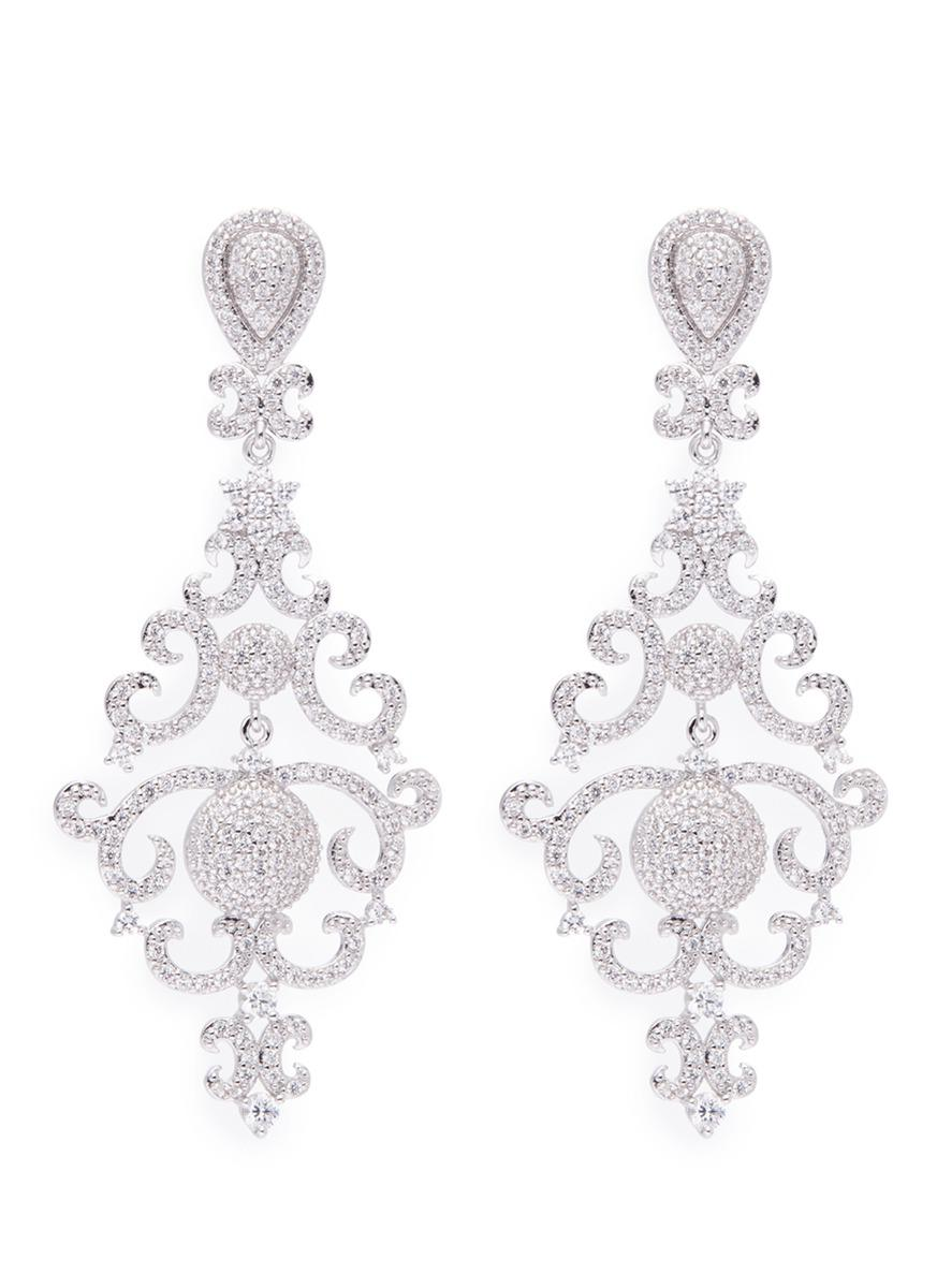 Lyst cz by kenneth jay lane vintage cubic zirconia chandelier cz by kenneth jay lane womens metallic vintage cubic zirconia chandelier earrings arubaitofo Choice Image