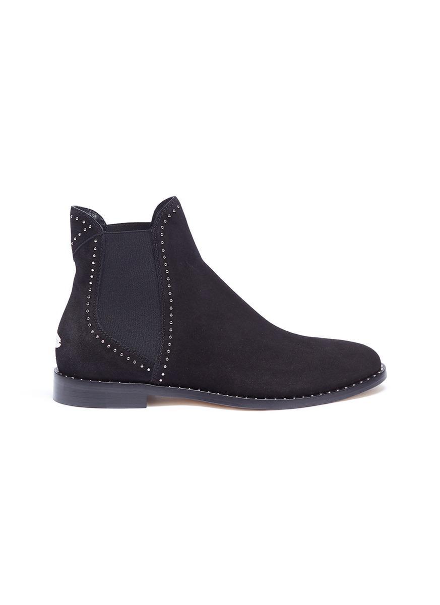 Jimmy choo Suede Merril Flat Chelsea Boots aZspgQuQl