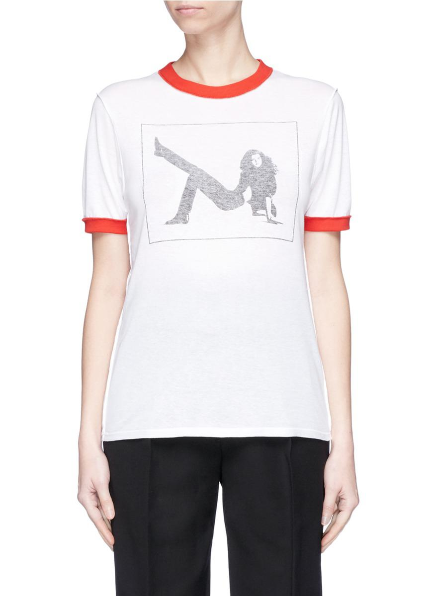de Klein gráfico Calvin 205w39nyc estampado Camiseta con qOB7pTtt