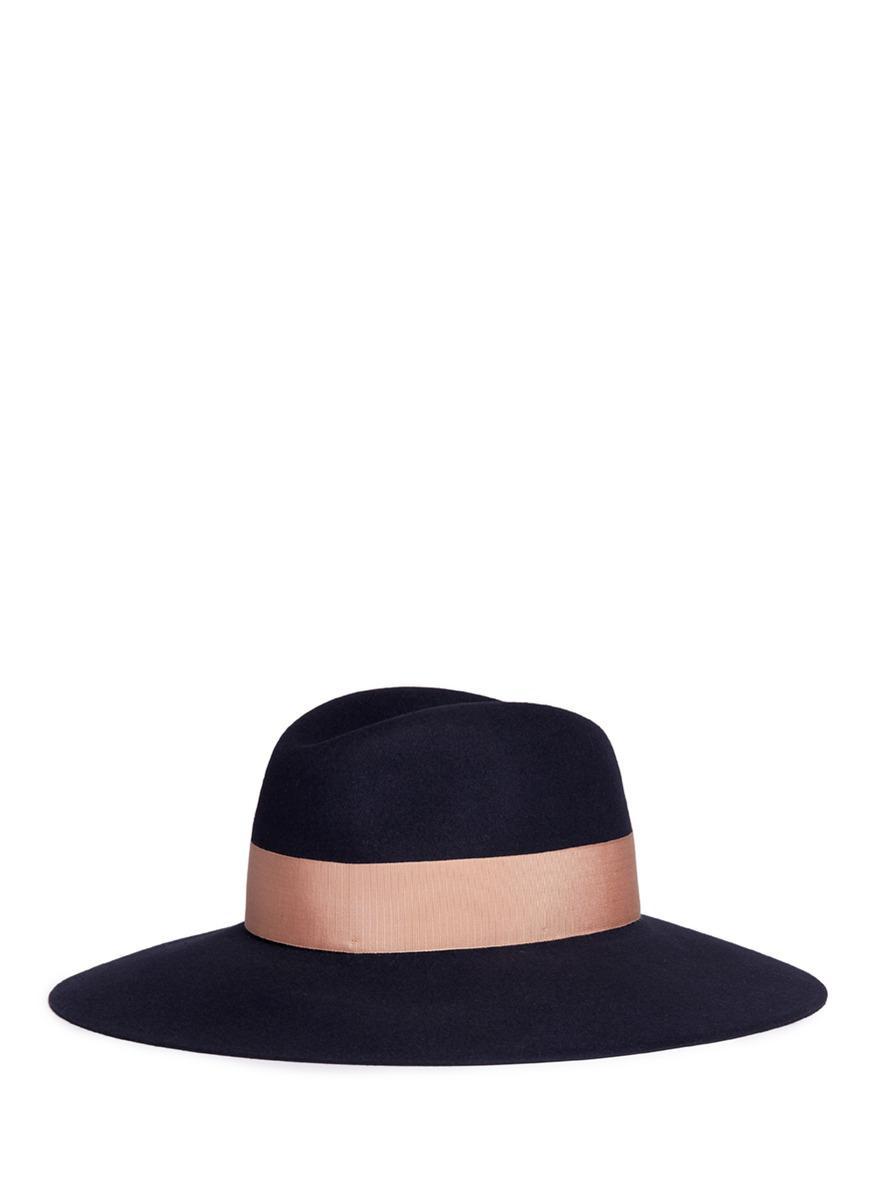 4c9433ffe10 Lyst - Borsalino  alessandria  Wide Brim Rabbit Furfelt Fedora Hat ...