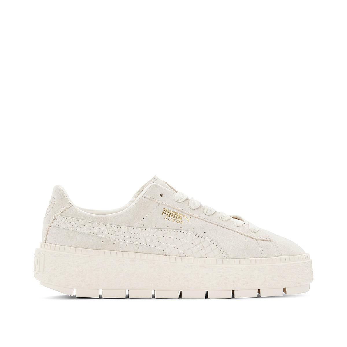 8a1532daf3 Lyst - Puma Suede Platform Trace Animal Wn 2 Trainers in Natural