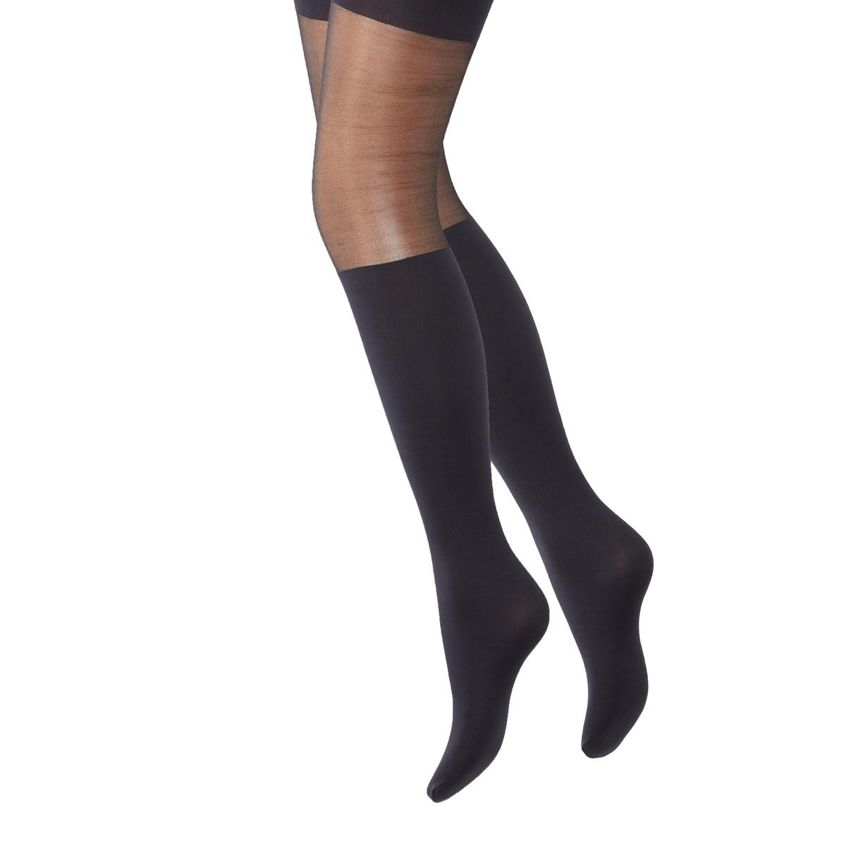 98cbead0673b3 Lyst - La Redoute Pack Of 2 Pairs Of Fancy Tights in Black