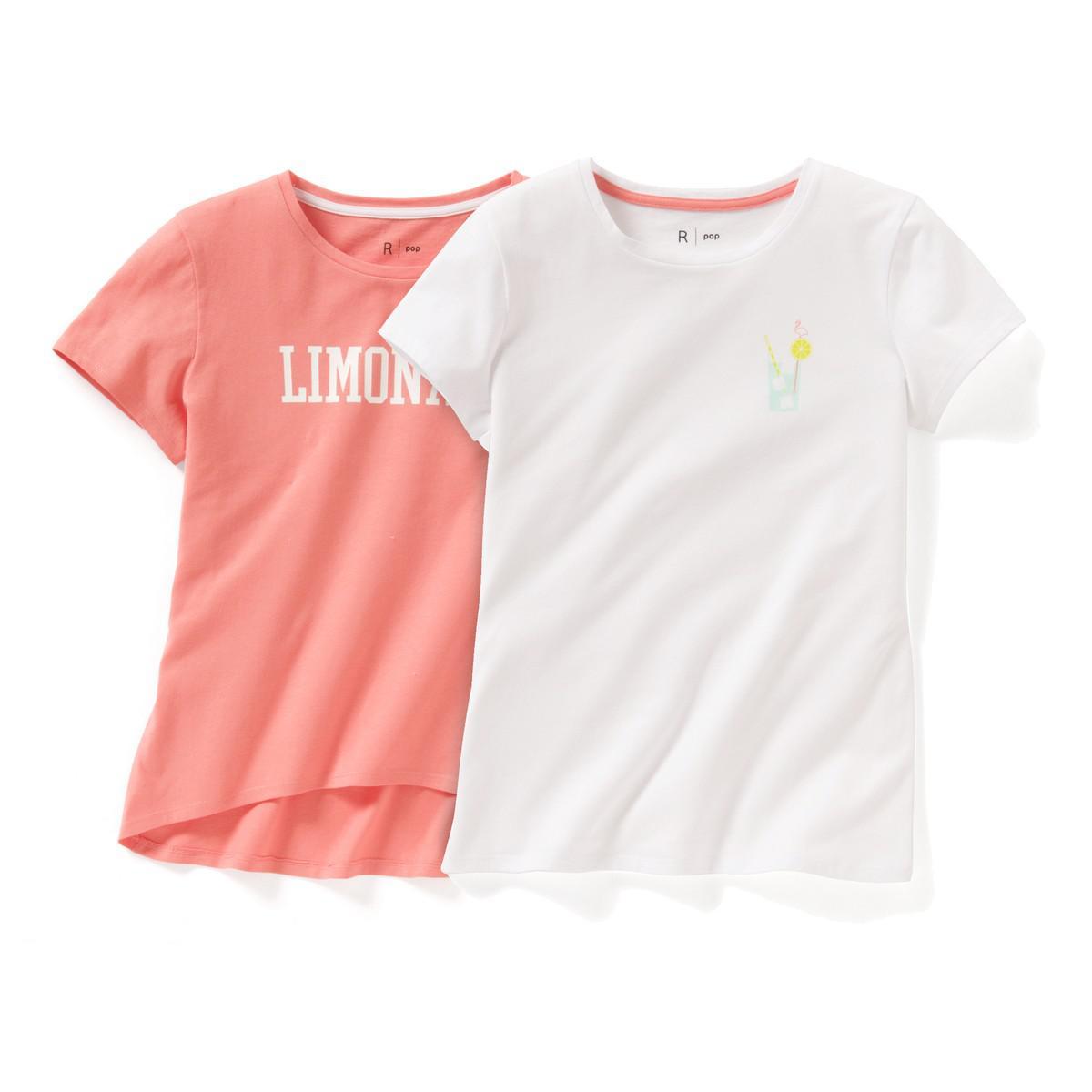77ea8fcf849d Lyst - La Redoute Pack Of 2 Crew Neck T-shirts
