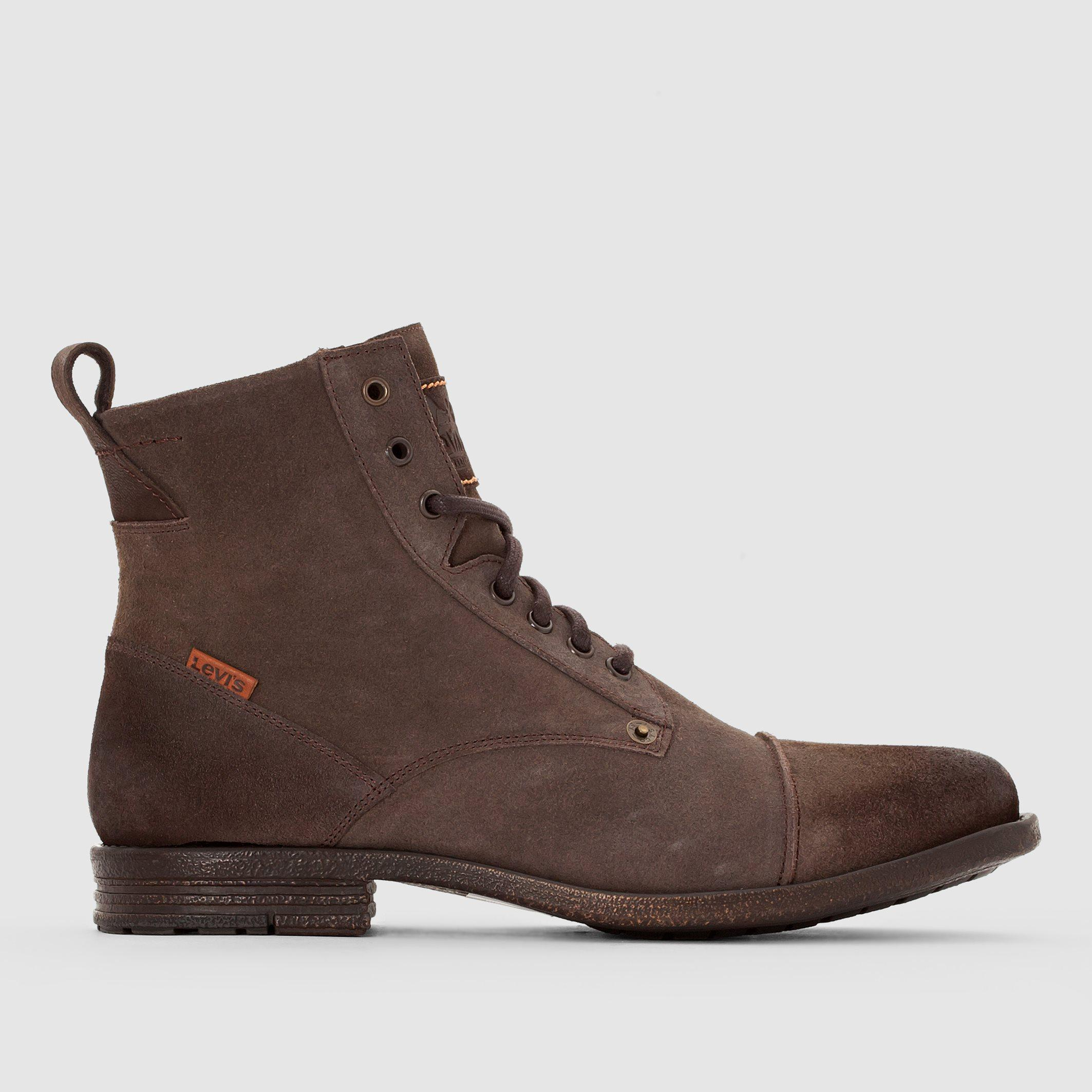 lyst levi 39 s emerson lace up leather boots in brown for men. Black Bedroom Furniture Sets. Home Design Ideas