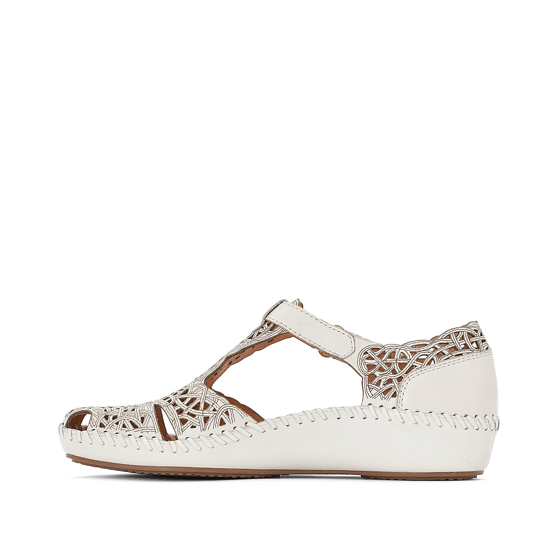 Pikolinos P Vallarta Leather Sandals In White Lyst
