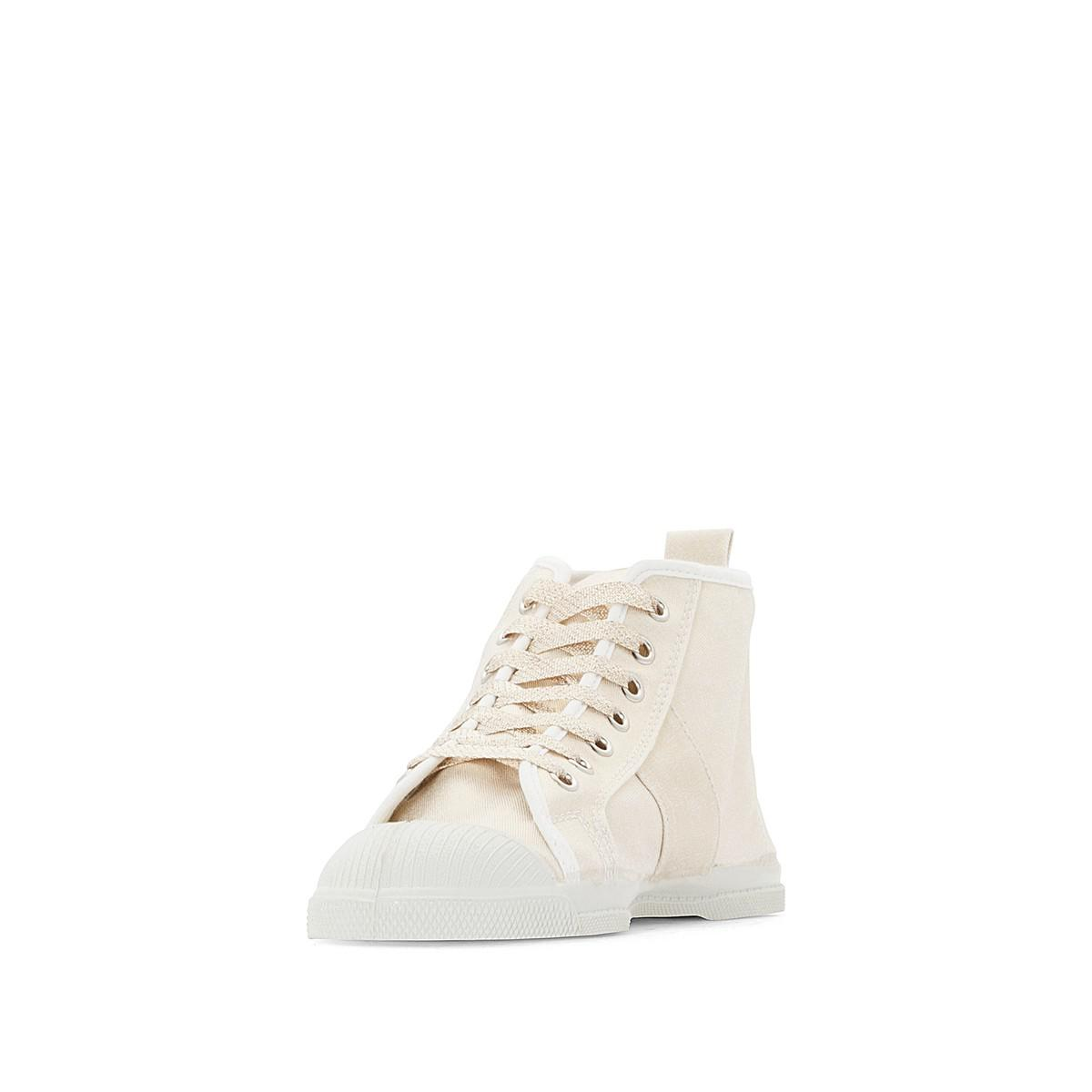 8d8ebb8e738fe3 Lyst - Bensimon Stella Shiny Cotton Canvas High Top Trainers