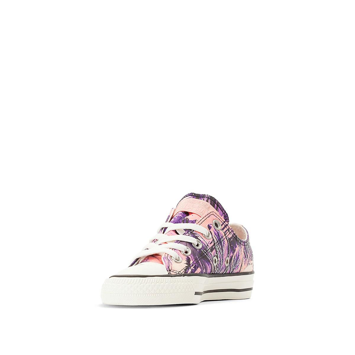 CONVERSE CTAS OX Feather Print Canvas Trainers clearance countdown package FQLvPK3