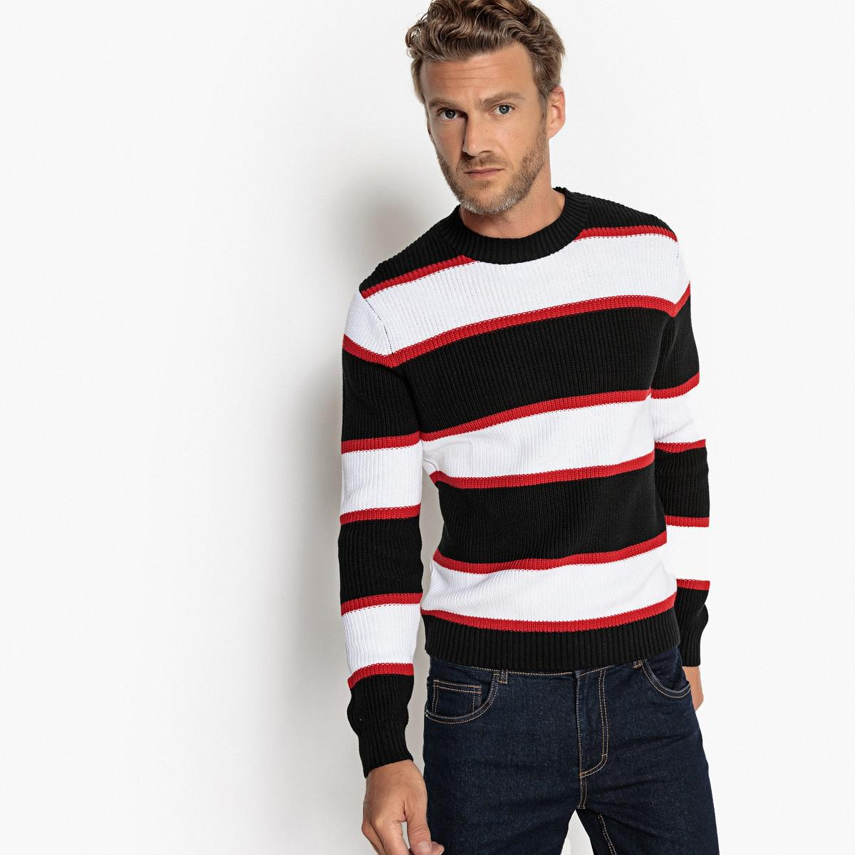 Qiangjinjiu Men Casual Round Neck Slim Fit Long Sleeve Pullover Sweaters