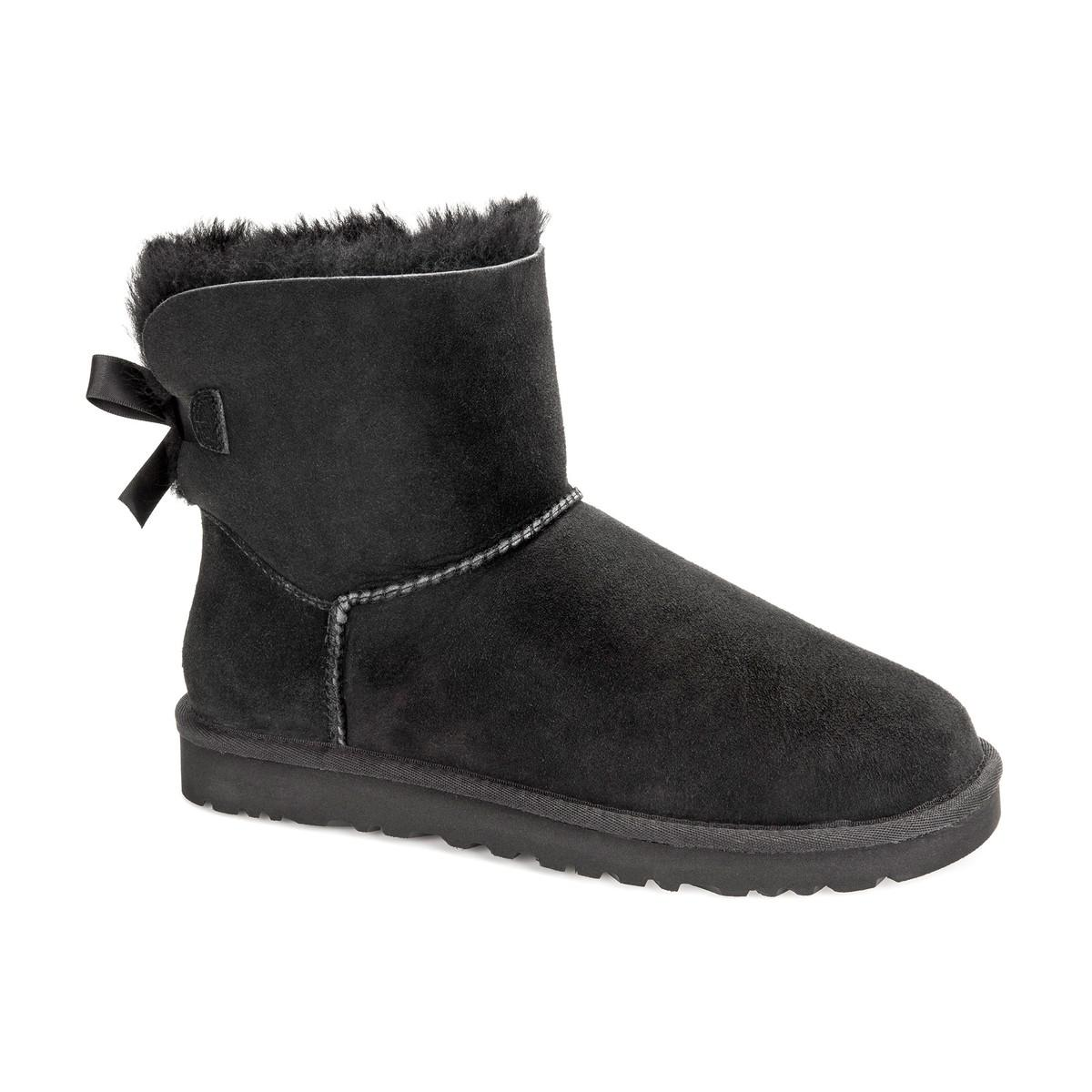 UGG Mini Bailey Bow II Fur-Lined Ankle Boots sale low shipping fee discount best place best sale online online Shop 9h1cwdUi