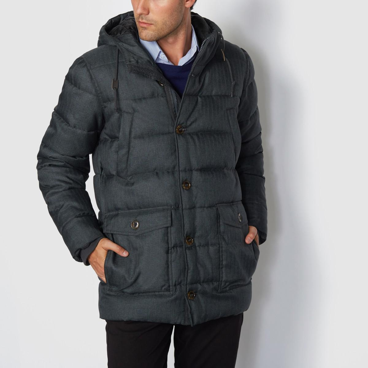 ef6143197d78 Lyst - La Redoute Hooded Padded Jacket in Gray for Men