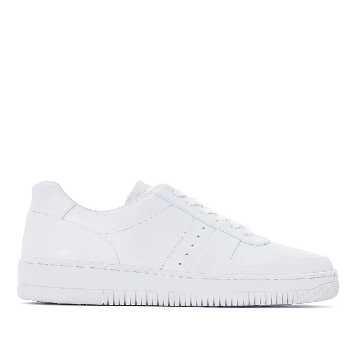 3f116f0a7df9e Lyst - La Redoute Leather Trainers in White for Men