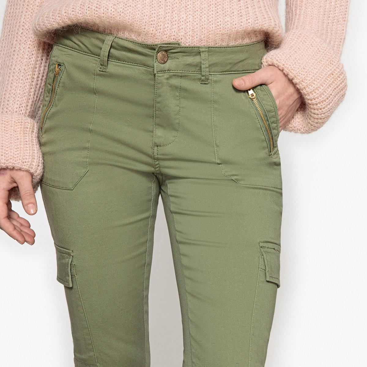 Lyst In Cigarette Slim Vila Green Trousers Fit AA6Znq af959919bc59