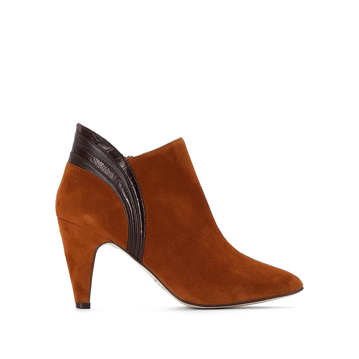 ed7e6dadcc6 Lyst - Jonak Suede Ankle Boots in Brown