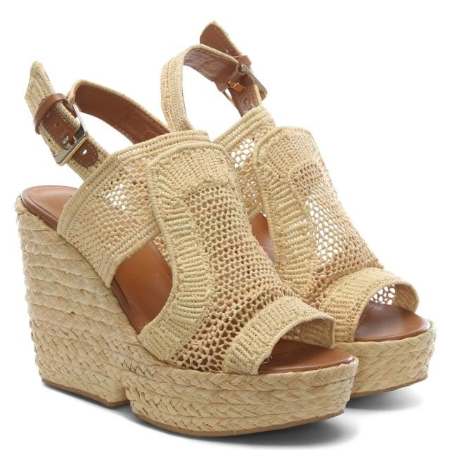 021b69af3f81 Robert Clergerie - Natural Dypaille Wedge Sandal - Lyst. View fullscreen