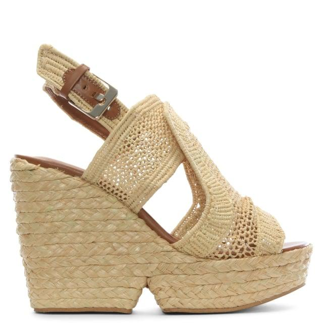 20319937dd35 Lyst - Robert Clergerie Dypaille Wedge Sandal in Natural - Save 44%