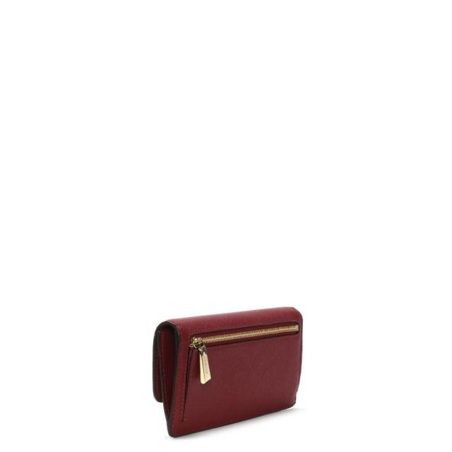7783af9249d4 Michael Kors Jet Set Travel Mulberry Saffiano Leather Slim Wallet ...
