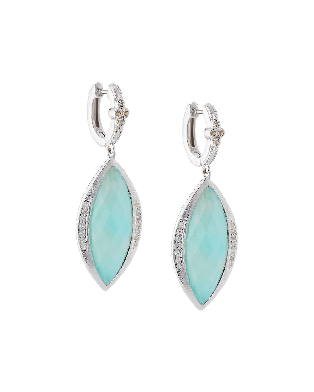 Jude Frances Encore Sterling Silver Amazonite Dangle/Drop Earrings