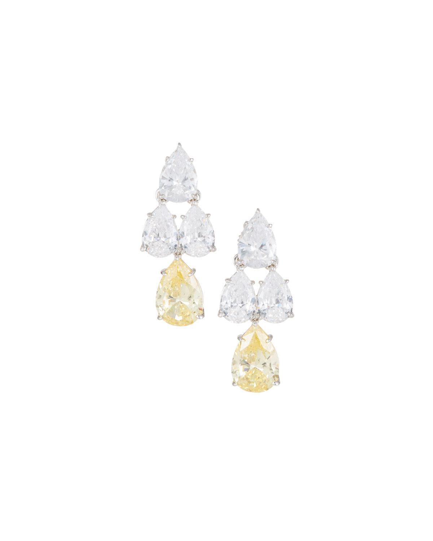 Fantasia Pear-Cut CZ Waterfall Chandelier Earrings BQJ3AXp