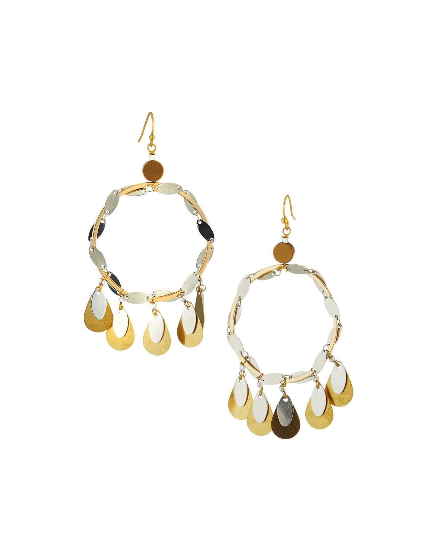 Nakamol Circle Fringe Drop Earrings 1WxHlBqI