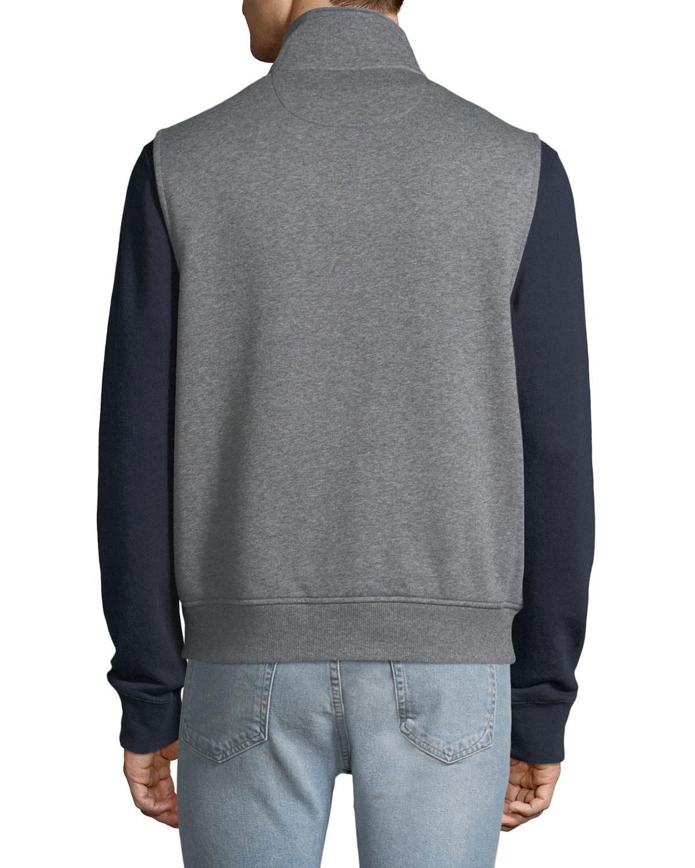 5cb7e579003d7 Lyst - Michael Kors Men s Quilted Fleece Vest in Gray for Men