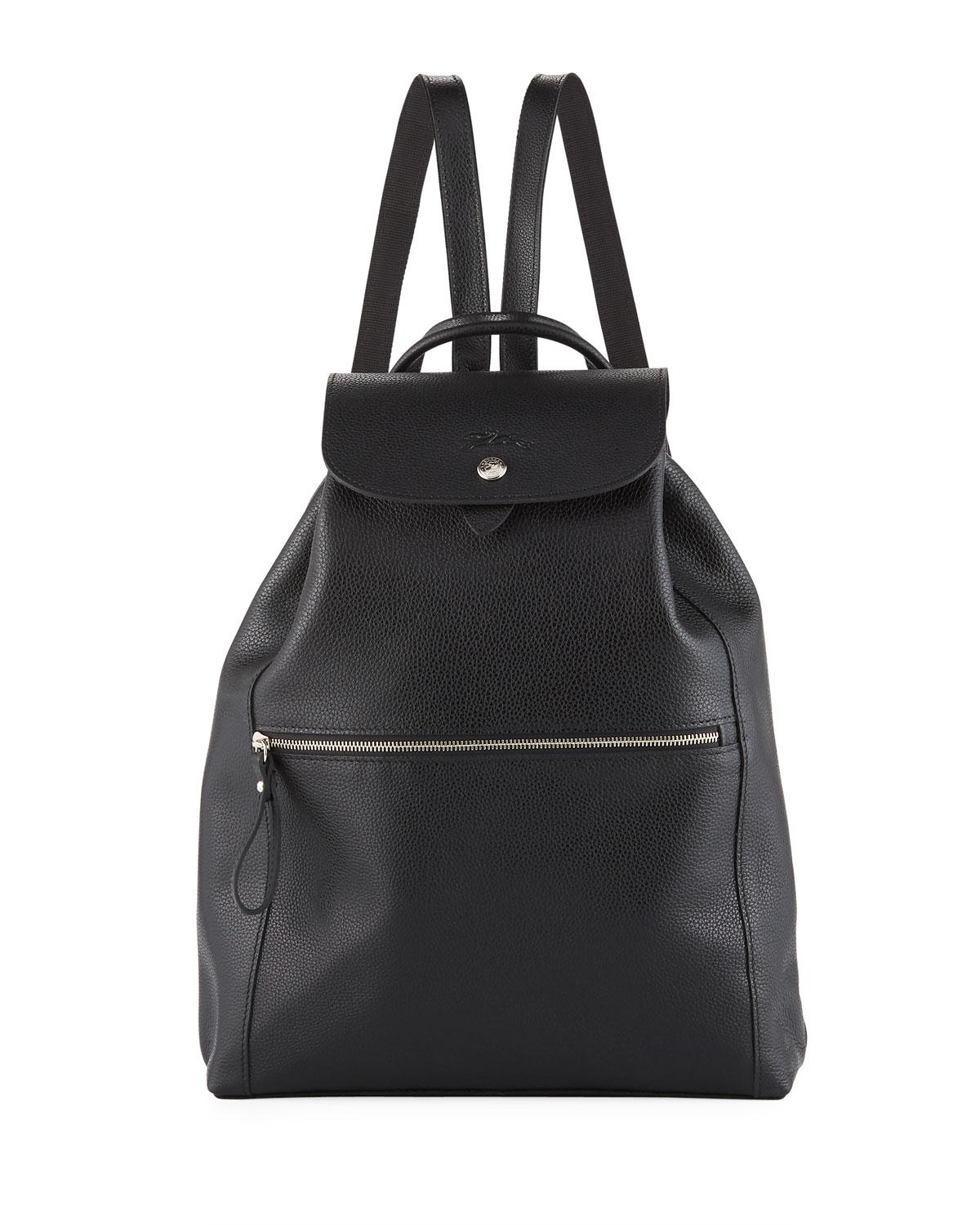 6606f9477689 Lyst - Longchamp Veau Leather Backpack - in Black - Save 19%