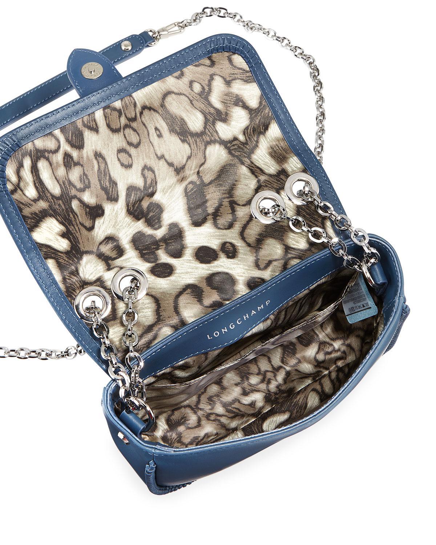 374e79608e20 Lyst - Longchamp Amazone Sur Seine Leather Shoulder Bag in Blue - Save 9%