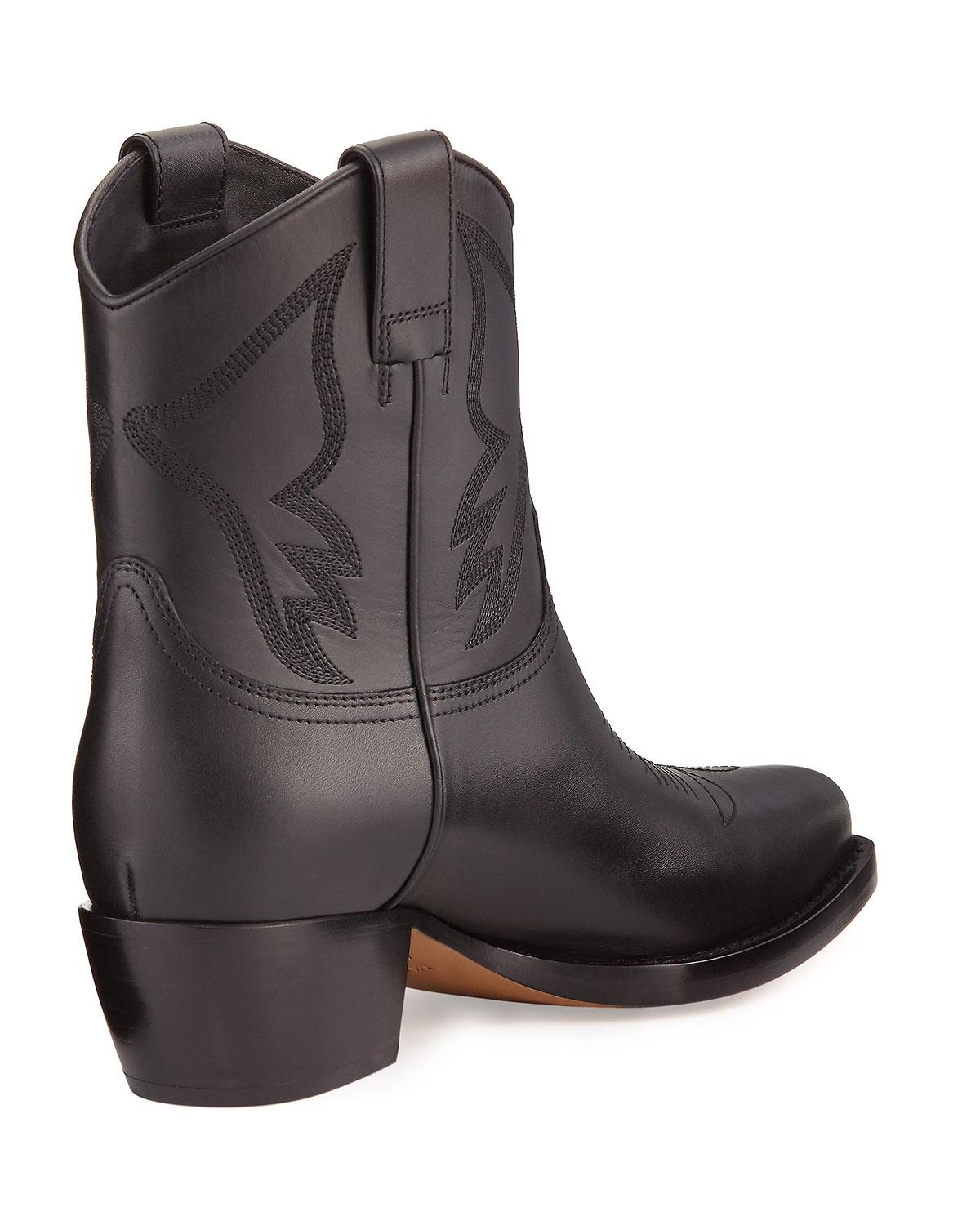 Valentino Leather Cowboy Boots q8pjS
