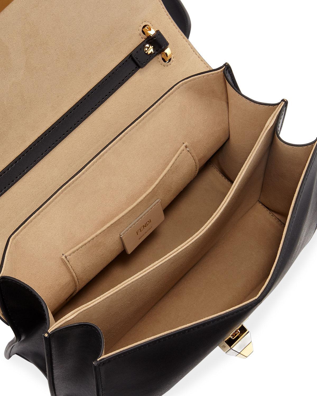 480ed4c1f4e9 Fendi Kan I Ff-embossed Liberty Shoulder Bag in Black - Lyst