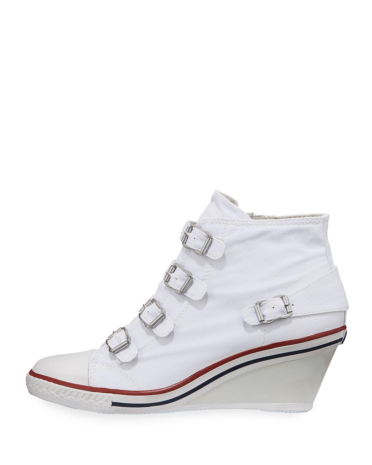 8036c4a7ff9e Lyst - Ash Genialbis Buckled Wedge Sneakers