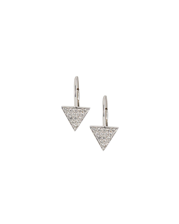 Penny Preville 18k Double Triangle Diamond Earrings lBvnWlcop