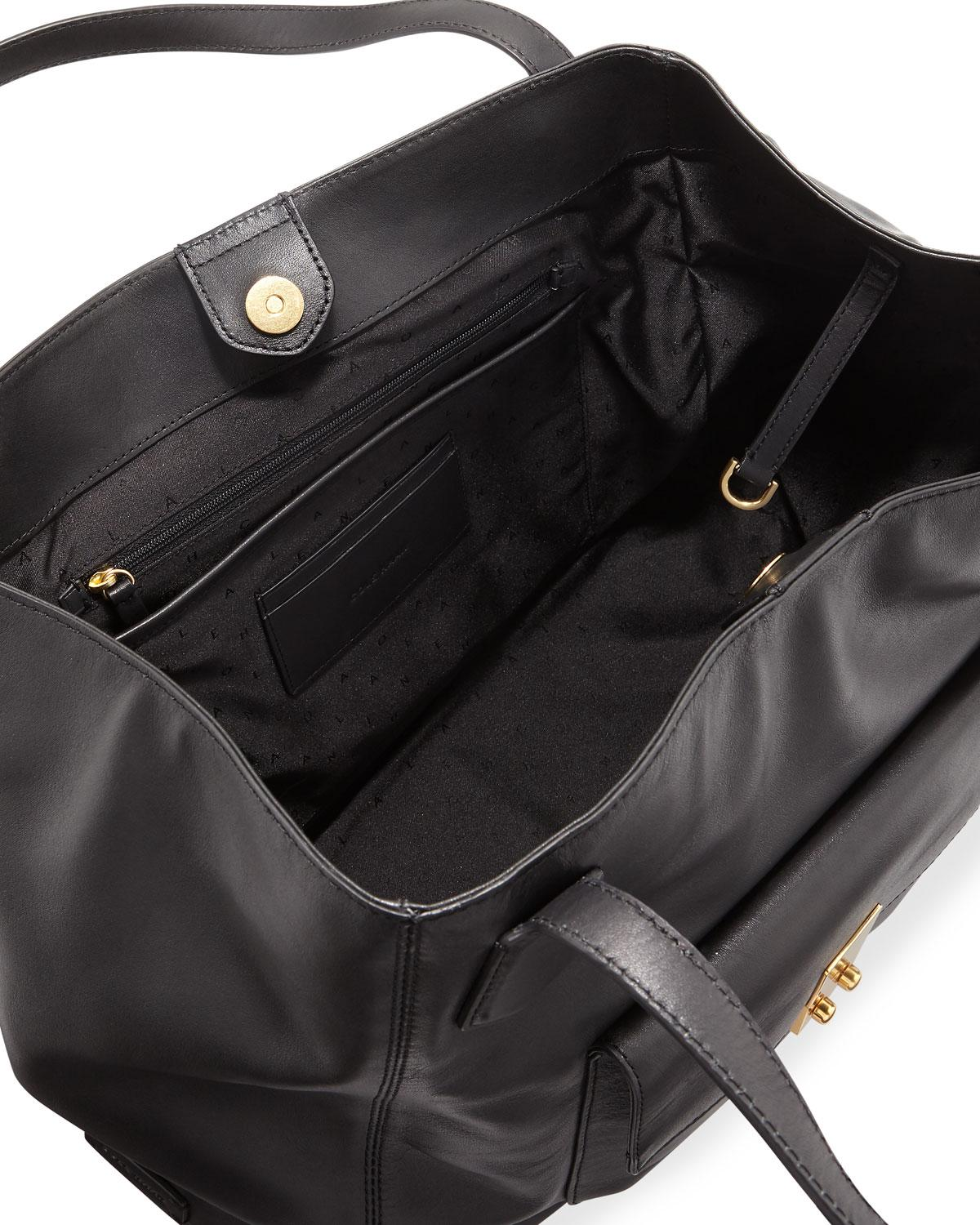 4407053ae250 Lyst - Cole Haan Allanna Work Leather Tote Bag in Black